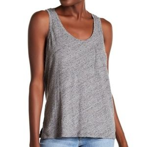 MADEWELL Women's Scoop Neck Tank Pewter NWT XS